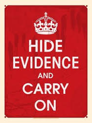 hide eviedence